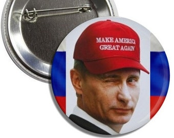 "Putin Make America Great Again 3"" Pinback Button"