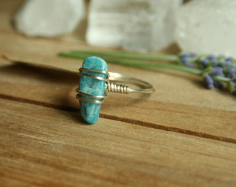 Size 7 motivational blue apatite and sterling silver