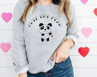 Cute but Mean • Cute but Mean Crewneck • Kinda Cute Kinda Mean • Cute & Mean • True Crime Sweatshirt • Crime Junkie • True Crime Obsessed