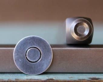 SUPPLY GUY 4mm Circle and Half Circle Metal Punch Design 2 Stamp Set SGCH-273274