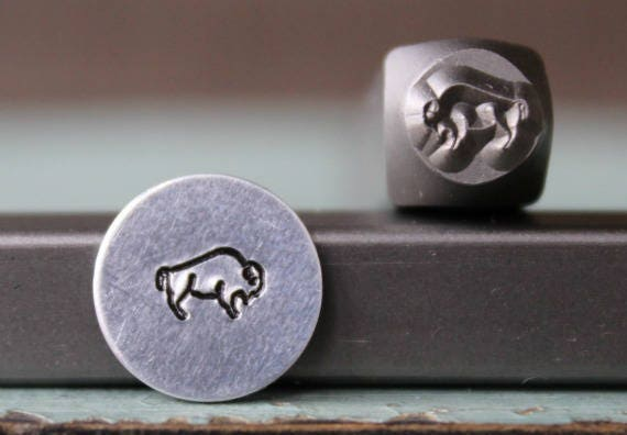 SUPPLY GUY 4mm Buffalo Metal Punch Design Stamp SGCH-187