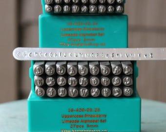 3mm Strawberry Limeade Font Combination Metal Stamp Letter Set - Supply Guy Stamp - SGCH-STRAWUL3MM