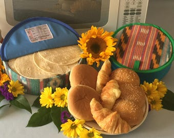 Microwave-Safe Bread and Tortilla Warmer.