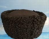 High quality Russian Cossack Black Astrakhan Genuine Sheepskin Kubanka Hat Black top cossack kubanka Cossack hat Custom Black Kubanka hat