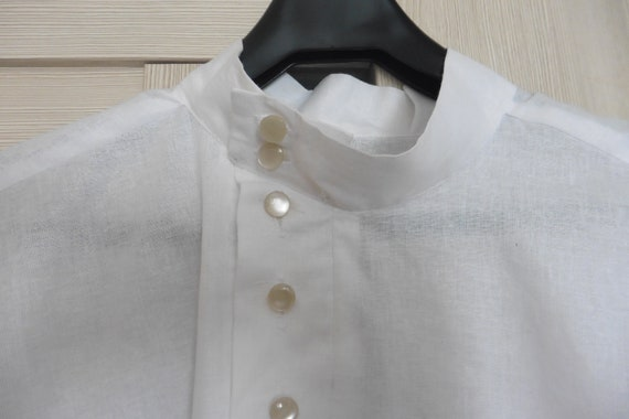 White cossack cotton shirt Kosovorotka cossack tra