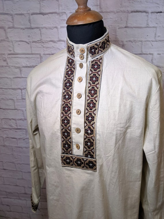 Traditional cossack cotton shirt Kosovorotka cossa