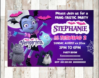Vampirina Invitation, Printable Vampirina Party Invitation, Vampirina  Birthday Invitation