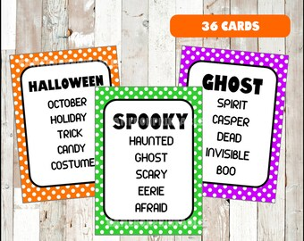 halloween taboo fun party game for kids teens and adults printable pdf halloween game
