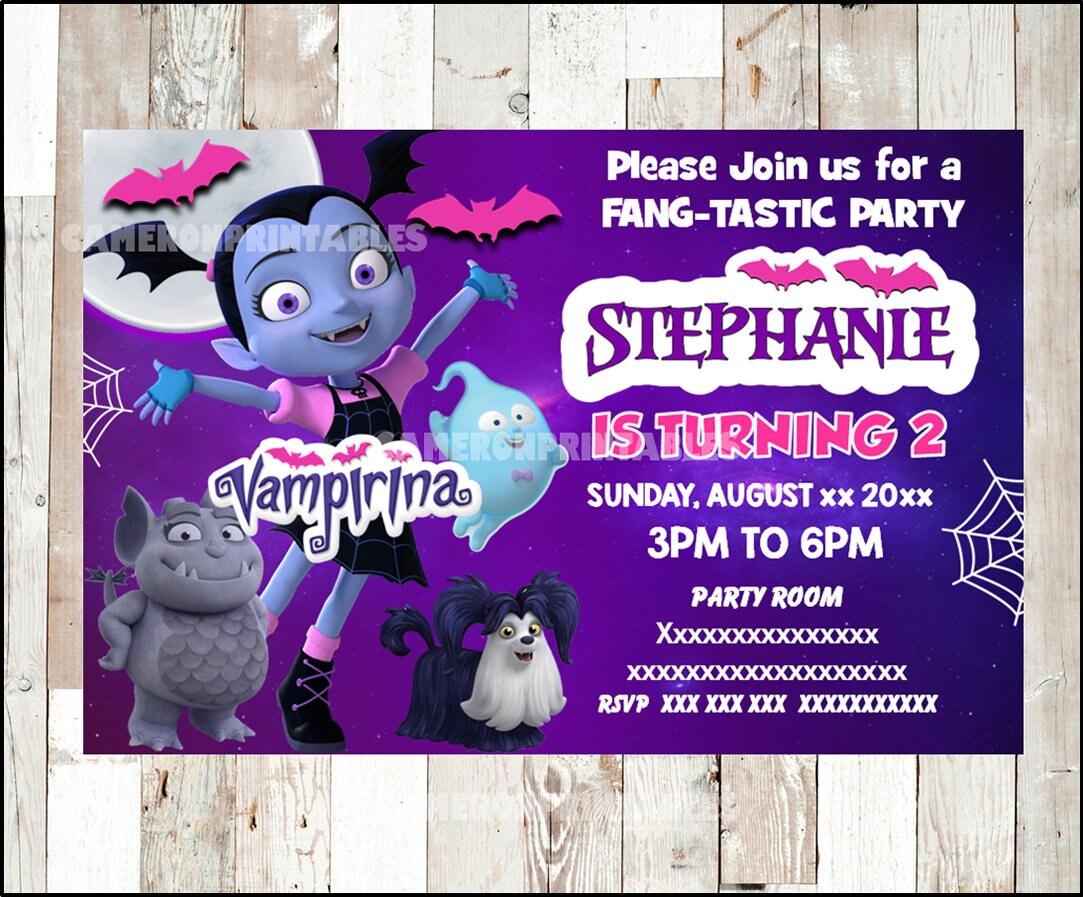 Vampirina invitación imprimible Vampirina partido invitación