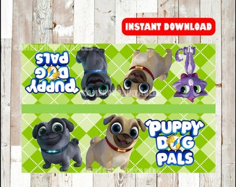 Puppy Dog Pals bags toppers instant download , Puppy Dog Pals toppers, Printable Puppy Dog Pals treat bags toppers