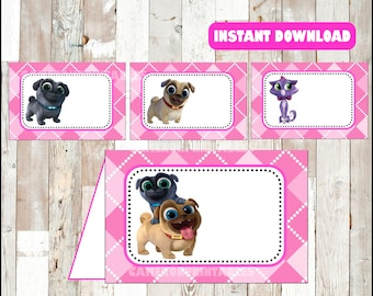 Puppy Dog Pals food labels instant download , Puppy Dog Pals food tent cards, Printable Puppy Dog Pals party food table labels