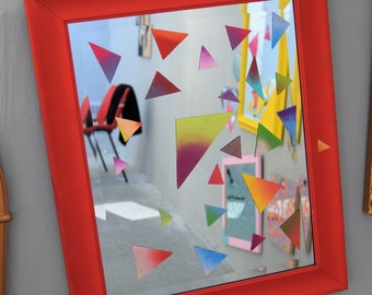Refraction / Hand Painted Mirror