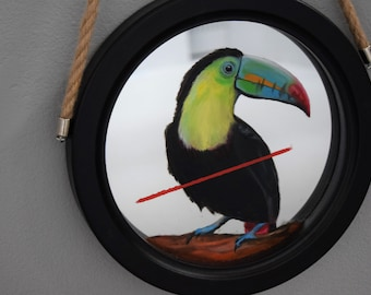 Toucan / Hand Painted Mirror