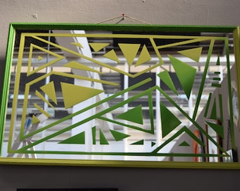Hedge Maze / Hand Painted Mirror