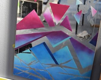 Grad / Hand Painted Mirror