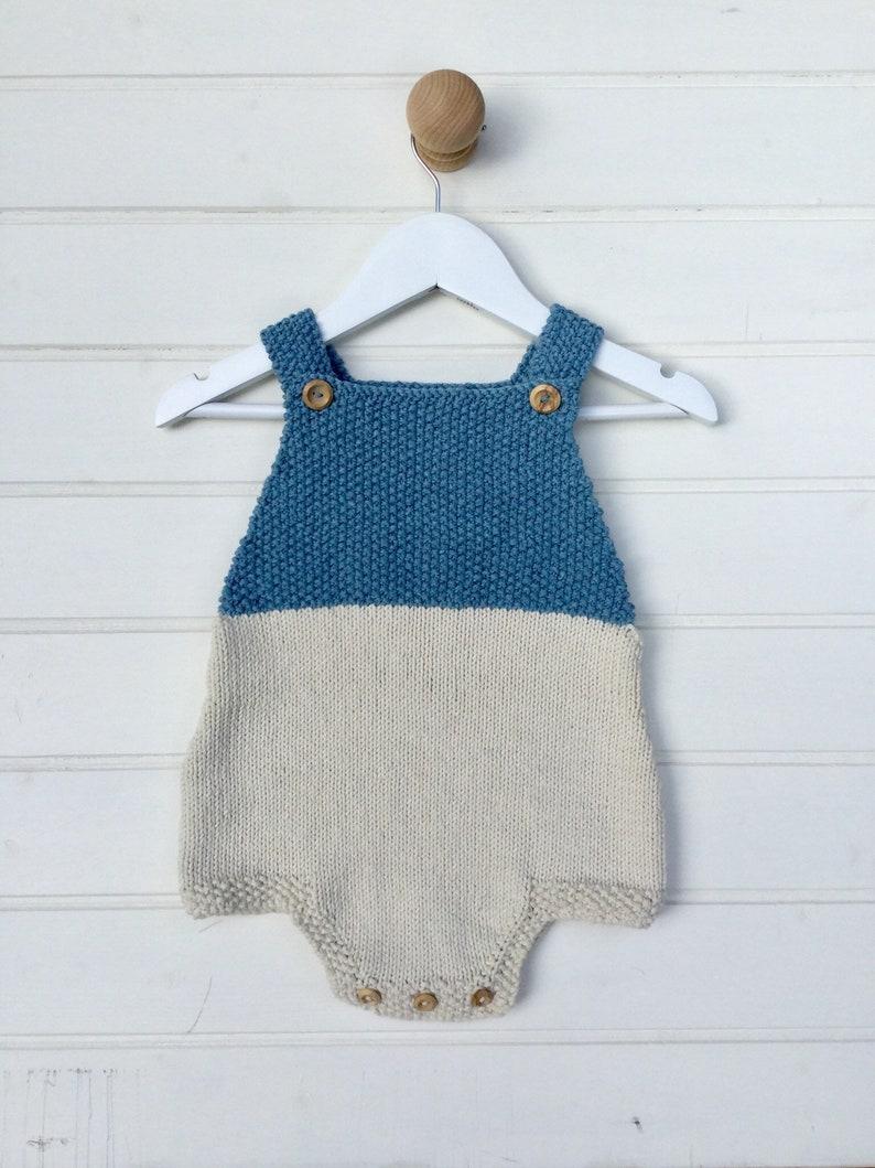c7deaf11c Knitted baby romper baby boy romper baby girl romper baby