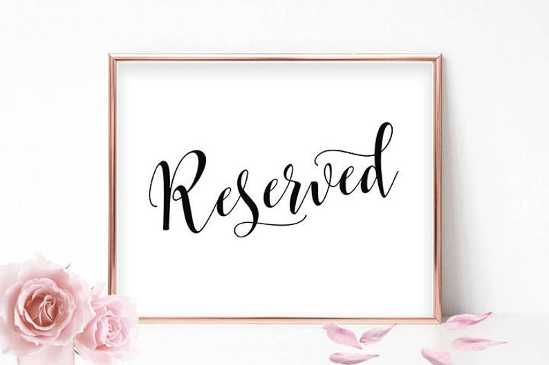 image regarding Printable Reserved Signs for Wedding referred to as Printable Reserved Signal Marriage ceremony Reserved Signs or symptoms For Marriage Reserved Desk Indication Reserved Marriage ceremony Signal Reserved Landscape Reserved Seating