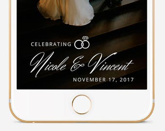Wedding Snapchat Filter, Custom Snapchat Filter, Snapchat Geofilter Wedding, Snapchat Filter, Personalized Filter, Wedding Ring Filter