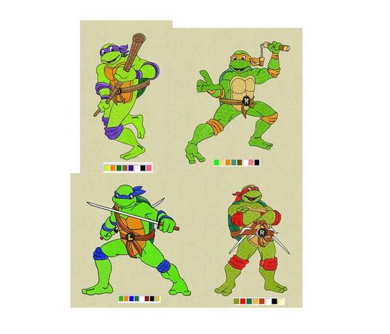 Teenage Mutant Ninja Turtles Embroidery Design Ninja Turtle Etsy