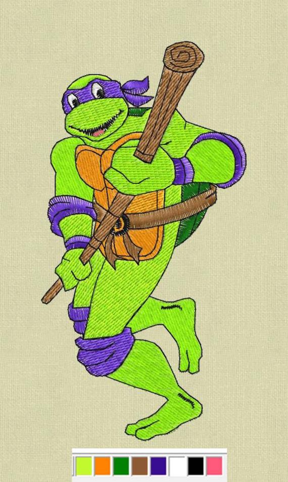 Donatello Embroidery Design Teenage Mutant Ninja Turtles Etsy