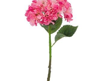 Artificial Pink White Hydrangea Flower - H 52 cm