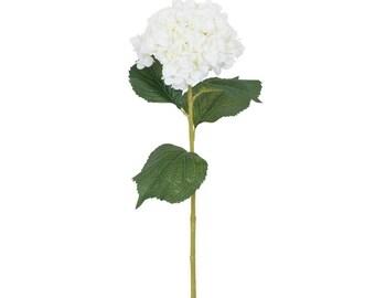 Artificial White Hydrangea Flower H 84 cm