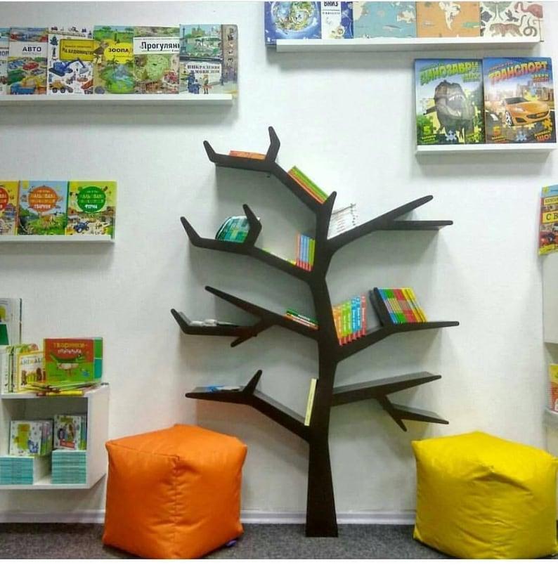 Baum rustikalen Bücherregal Baum Regal Kinderzimmer-Regal | Etsy