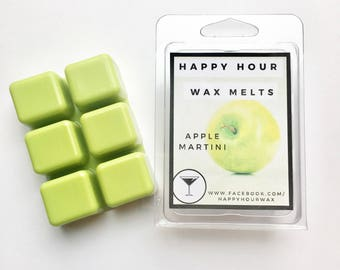 Apple Martini, Happy Hour Wax Melts, Scented Wax, Wax Melts, Clamshells, Home, Fragrance