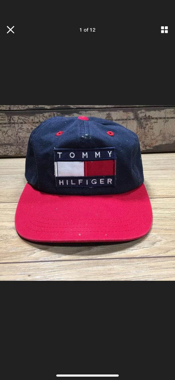 Vintage Tommy Hilfiger Flag Patch Logo Snapback Ha