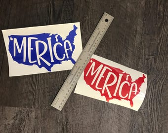 Merica decal - United States