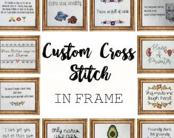 Custom Subversive Cross Stitch || Great gift for any occasion || Birthdays, Christmas, anniversaries, graduation, etc.