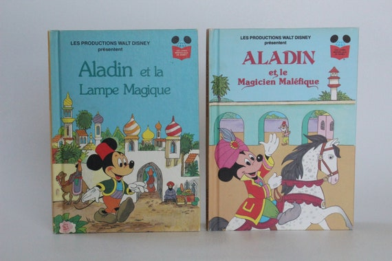 Aladin 2 Vintage French Disney Books Edition Club Du Livre 1978 1980