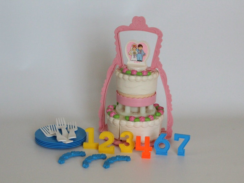 Tremendous Fisher Price Fun With Food 2152 Create A Cake 1988 1990 Etsy Personalised Birthday Cards Beptaeletsinfo
