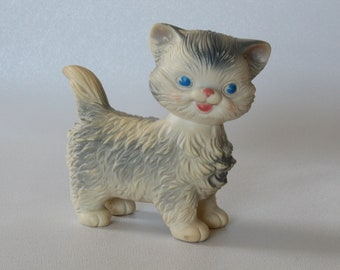 Vintage EDWARD MOBLEY Toy, Rubber KITTEN Squeaker, Squeak Cat Toy