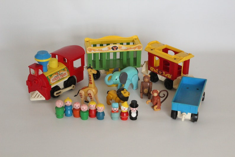Vtg Little People Fisher Price Play Family Circus Train 991 Red Caboose ONLY Toy