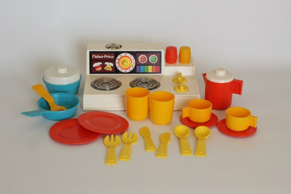Fisher Price Fun With Food 919 Kitchen Set 1979 1986 Vintage Fp Toy