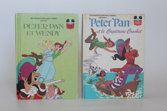 Peter Pan 2 Vintage French Walt Disney Books Edition Club Du Livre 1977 1982