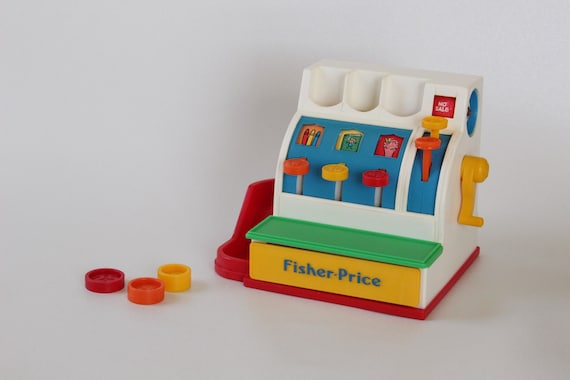 612b3f1d48b9 Items similar to Fisher Price  2044 Cash Register with COINS