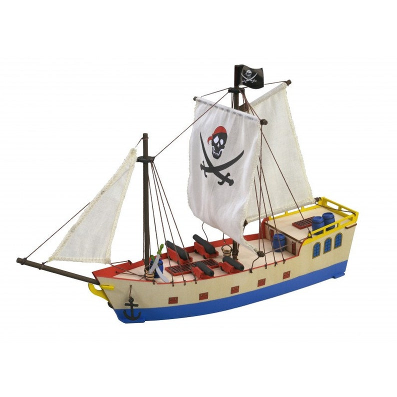 Pirate Ship Wooden Boat Model Kit Junior Collection Ages 8 Artesania