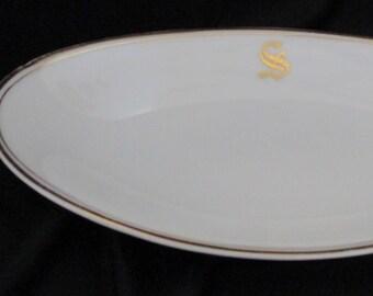 Oval Relish Dish Bavian China