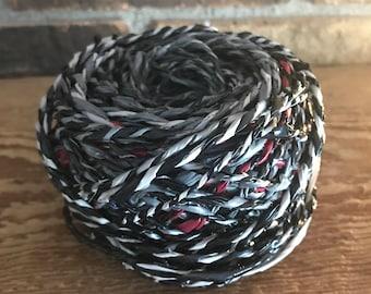 Grey and Black Spun Plarn