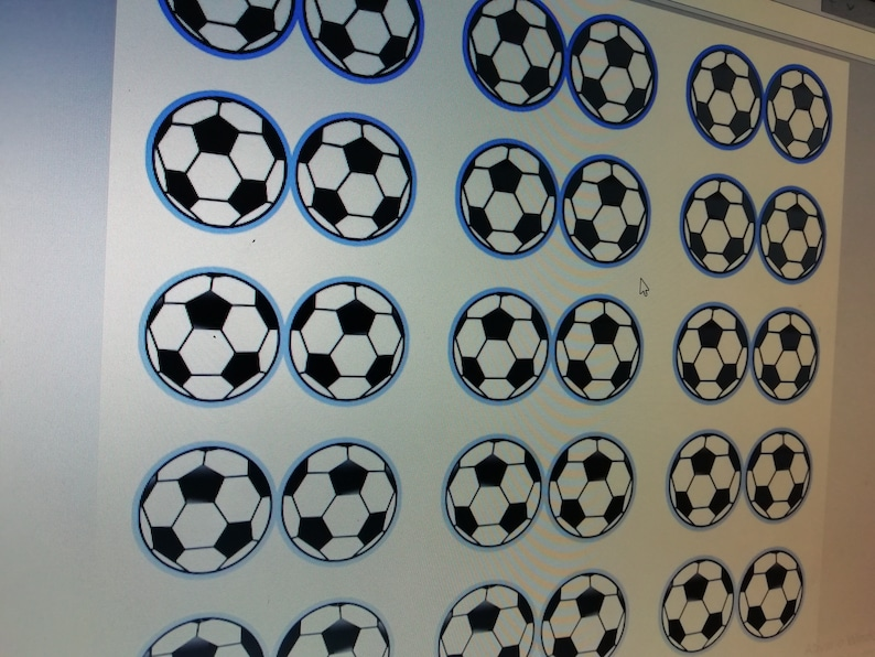 Kit Soccer For Printing Party Decoration