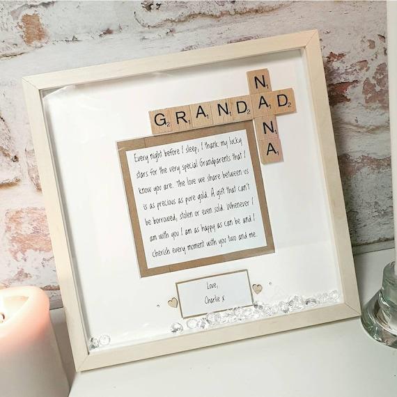 souvenir cadeaux Grandad anniversaires Imprimer uniquement Grand-Père Cadeau Personnalisé héros