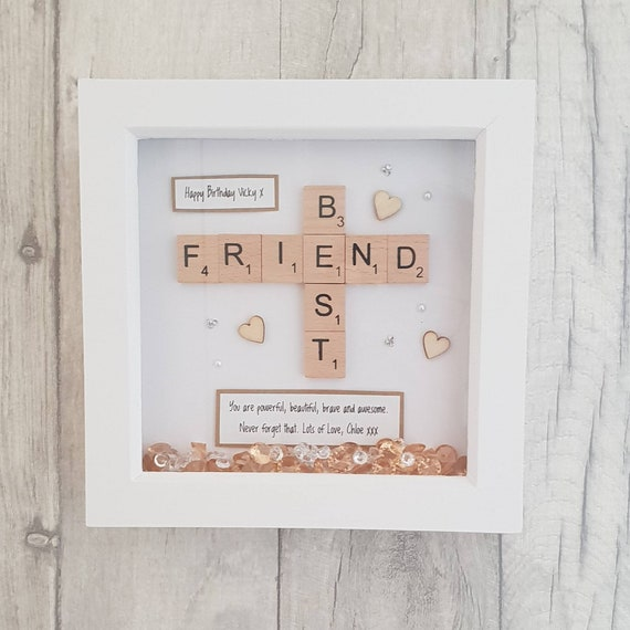 Mini Best Friend Frame Handmade Personalised Scrabble Gift For