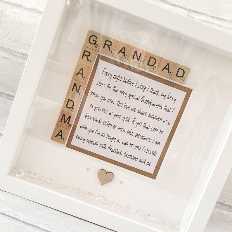 Personalised S//P Photo Frame Engraved Birthday//Christmas Gift Nanna Gran Nana