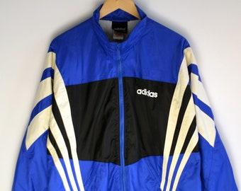 Adidas Windbreaker Vintage Men L Adidas Raincoat 90s windbreaker Vintage Windbreaker Adidas Bomber jacket Adidas Windbreaker Adidas jacket L