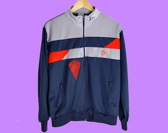 a037c3dfc108 Puma Jacket Men M 90s jacket Vintage Tracksuit Top Puma Activewear Jacket  colorblock