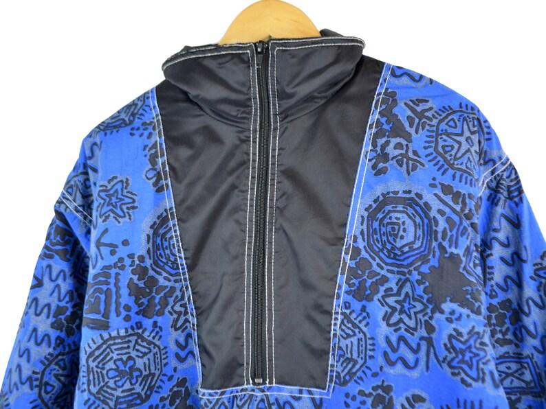 Vintage Bomber Women L Vintage Jacket Men S 90s jacket Warm Anorak Warm jacket Winter Neon jacket Colorful jacket Filling Puffer Jacket Vtg