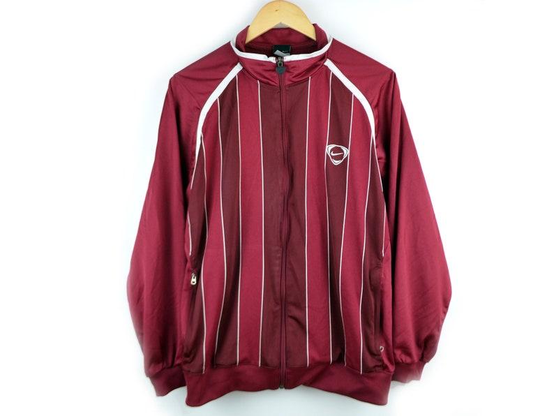 1a634170c625 NIKE Jacket Vintage Men M Nike Striped Jacket Burgundy Nike
