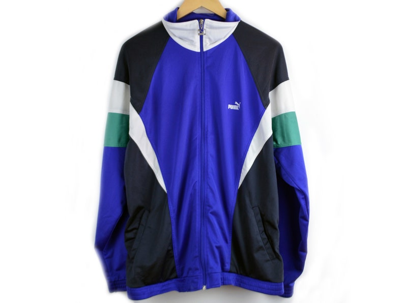 f6d91b382 Puma Jacket vintage Top Tracksuit Men L 90s windbreaker colorful Jacket  Puma Windbreaker men Vintage Puma Colorblocking 90 jacket colorful